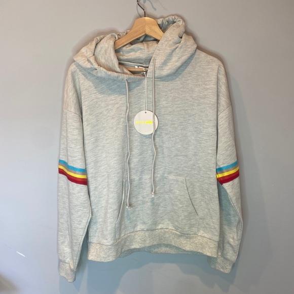 Hood Honey Slouchy Off Shoulder Sweatshirt